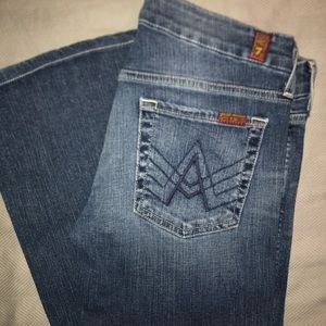 "7 for all mankind ""A"" pocket jeans sz28"